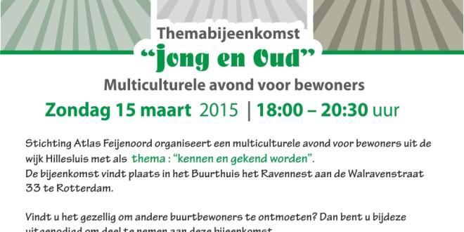 Themabijeenkomst –  Multiculturele avond voor inwoners